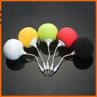 al por mayor bolas de altavoces para móviles-Mini altavoces de la nueva manera de bolas de esponja colorido pequeño altavoz estéreo portátil MP3 3.5mm de audio portátil