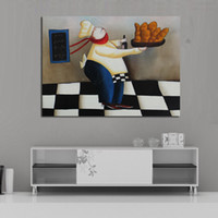 art bread - Decorative Art Skillful and Abstract Cook Bread Oil Paintings Canvas Wall Pictures for Home Decor