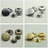 Wholesale 15pcs Different Price Different Quality mm Snap Fasteners Popper Press Stud Sewing Leather Button