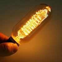 Wholesale Industrial Edison Bulb Vintage Incandescent Lights High Quality Tungsten Filament E27 Base W V Bulbs CM X CM