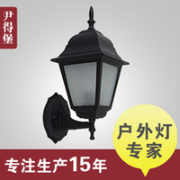 american project - Continental Iron wall lamp American walled courtyard garden lights outdoor waterproof LED project lamp glass explosion models Sp