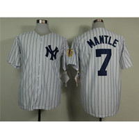 Wholesale Popular New York Yankees Mantle Baseball Jerseys Sports Jerseys Stripe Baseball Jersey Online Fashion Shop with Lowest Price
