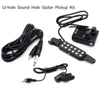 acoustic guitar kits - 12 hole Magnetic Sound Hole Guitar Pickup Kit with Volume Controller Clip Microphone for quot quot quot quot Acoustic Guitar I740