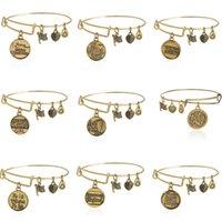 antique vintage jewelry - 2015 Alex and Ani Bangles Diy Pendants Vintage Antique Gold Pulseras Bracelets Men Women Stainless Steel Jewelry