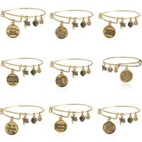 antique jewelry clasps - 2015 Alex Ani Bangles Diy Pendants Vintage Antique Gold Pulseras Bracelets Men Women Stainless Steel Jewelry