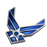armed forces badges - Exterior Accessories Car Stickers USAF U S Air Force Blue Silver Chrome Metal Car Styling Emblem Arm Badge D Sticker Auto Fashion Decor