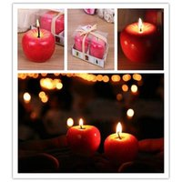 apple boxs - Apple Candle Lamp Brthday Party Christmas Day Ty Aromatherapy Romantic Gift Kitchen Light Tools with Boxs