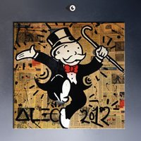 art gallery prints - 2015 alec monopoly gallery art Giclee poster print on canvas for wall decoration elephant oil painting
