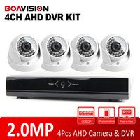Wholesale AHD MP Indoor IR M Security AHD Dome Cameras H Channel AHD Camera DVR System Kit P HDMI Output P2P View