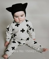 bebe white romper - newborn baby clothing baby boy clothes neutral white plus black cotton Long sleeve baby Romper baby girl bebe clothing set