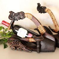 antique utensil rack - Creative dining utensils vintage bottle wine flagon handmade crafts ornaments wood carvings kitchen wine rack