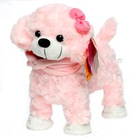 Wholesale High Quality Electronic Dog Pet Singing Walking Musical White Pink Yellow Electronic Pet Robot Dog Toys For Children Gift For Kid