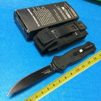 Wholesale BM Infidel Black Single Blade HRC Spear Point Black Nylon Sheath Camping outdoor tool pocket knife knives