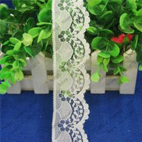 Wholesale 50 yards MM White Lace Fabric Trim Embroidery Sewing Fabric Ribbons DIY Garment Accessories L360