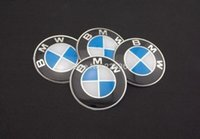car wheel hub cap - Mixed set mm CAR Auto Tyre Wheel Center Cover Stickers Hub Cap Stickers Emblems Badge Decal Fit BMW