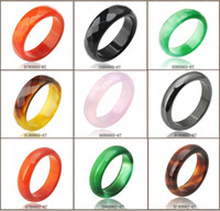 Band Rings jade rings - Hot Sale high quality Natural Agate jade Crystal gemstone jewelry engagement wedding rings for women and men Love gifts more Color optional
