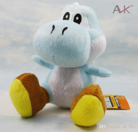 baby dragon games - 18cm Super Mario Games Yoshi Dragon Toy Anime Stuffed Plush Toys Collection Doll Toys For Baby Healthy Christmas Present Retail
