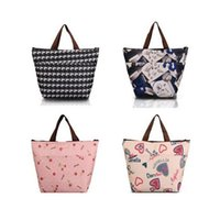 Wholesale Flower Oxford Picnic Thermal Bag Neoprene Lunch Bag Food Cooler Bags Thermal Women Handbag Women Messenger Bags Hot sale
