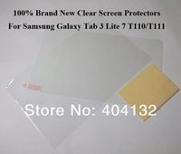 Cheap 200PCS Clear Screen Protectors+Cleaning Cloth Film For Samsung Galaxy Tab 3 Lite 7 T110 T111 -By DHL Fedex