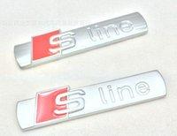 Wholesale pieces D Metal S line chrome emblems badge stickers Sline car styling