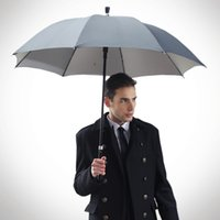 Cheap Wholesale-Hot sale fashion walking stick strong wind creative sunny umbrella with UV protection windproof umbrellas LWF13177