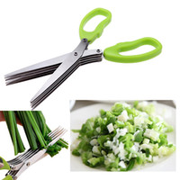 bamboo cutting tools - Stainless Steel Cooking Tools Kitchen Accessories Knives Layers Scissors Sushi Shredded Scallion Cut Herb Spices Scissors
