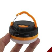 Wholesale Drop Shipping180 Lumens Portable Outdoor Camping Lantern Hiking Tent LED Light Campsite Hanging Lamp Emergency with Handle In stock