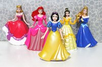 belle flash - princess dolls toys Snow white Belle Ariel Cinderella doll anime action Figures Cartoon Flash kids toys girls gift New