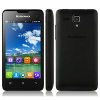 al por mayor x teléfono celular-Lenovo A396 3G WCDMA Android SC7730 Cortex A7 Cuatro núcleos 1.2Ghz 4.0inch 800 x 480 píxeles de doble tarjeta SIM teléfono celular