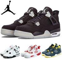 Wholesale Nike dan IV Retro Alternate White Black Gym Red Mens Basketball Shoes Sports AJ4 Jordan shoes Jordans J4 Sneakers