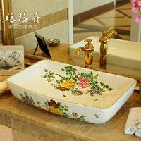 Wholesale German national mail bench bonsai ceramic bathroom wash basin artistic basin wash basin basin long section of Spring