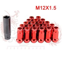 auto lug nuts - KYLIN STORE MT SR48 Auto Steel Acorn Rim Extended Open End Wheel Racing Lug Nuts With One Key X1 A3