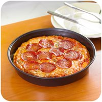 Wholesale New arrival inch Round non stick baking tray Deep pizza plate cake pan flat oven tray Baking mould Cake mould