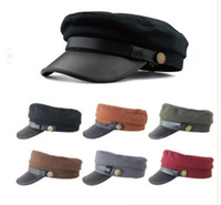 Wholesale 6pcs Vintage Outdoor Casual Cotton Cap Travel Adjustable Snapbacks Flat Top Military Army Visor Summer Hat