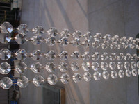 Wholesale mm crystal octagon bead strand curtain M Crystal garland Strands Wedding Christmas crystal bead chain