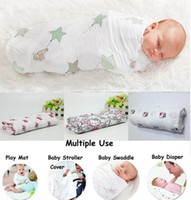 Wholesale DHL cm Spring Autumn Aden Anais Swaddleme Muslin Cotton Baby Swaddle Envelopes for Babies Character Owl Bird Lion Car Blanket