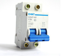 Wholesale Chint DZ47 P C32 A mini miniature circuit breakers for household protection breaker switch chopper