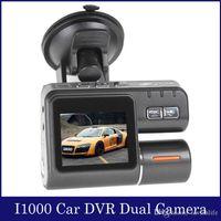 night view lens - Full HD P Dual Lens Car DVR Dual Camera Car Video Recorder Blackbox Dash Cam Night Vision View Dual Lens Camcorder i1000 HDMI