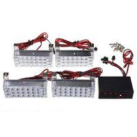 Wholesale 12V x4 LED Flash Amber Car Emergency Light Bars Warning Strobe Auto Lamp