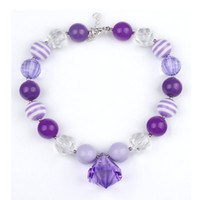 area states - the purple water droplets children beaded necklace foreign trade to most of areas in UNITE STATES chunky necklace