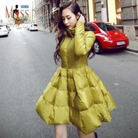 Lapel Neck artistic coating - 2016 winter new fashion Edgy Artistic women s down jacket slim fit elegant coat Ladies warm winter outer wear top quality