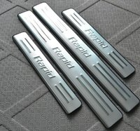 Wholesale High quality stainless steel welcome pedal Scuff Plate Door Sill for Skoda Rapid