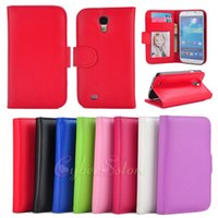 i9500 - For Galaxy S4 Wallet PU Folio Photo Frame Photoframe leather Case Cover With Credit Card Slot Slots Pouch For Samsung S IV i9500
