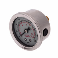 Wholesale Auto Car New Billet Fuel Pressure Regulator Gauge Oil Line with Fittings Oil Press Regulator Red Black Red Silver order lt no track