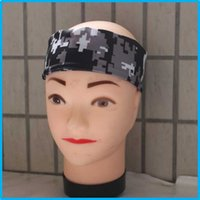 baseball sweatbands - Digital Camo Sports headband for softball baseball Absorb sweat sweat Compression headband Suitable children and adults