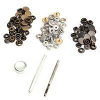 Wholesale Lowest Price Sets Metal Snap Fastener Poppers Press Studs Kit Sewing Leather Craft Tools Metal Snap Button Colors