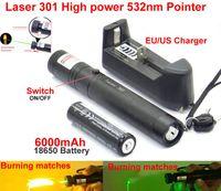 Wholesale car High power Laser Focus Burning nm Green Red Laser Pointer Laser Pen Beam Military Laser mah battery charger