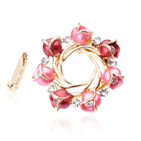 Wholesale YADIENA Crystal diamond Ornament Pin Brooch dual purpose scarf Pin Broach Pin Clip Sweater pin DA0139