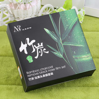 Wholesale Set Bamboo Charcoal Remove Black Nose Film Mask Blackhead Remover shrinking pores Hot Selling
