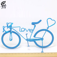 aluminium kids bikes - A Birthday Present For Girlfriend Love Bike Manual Bicycle Model Home Creative Furnishing Articles Aluminium Wire Weave Words Love Hearts